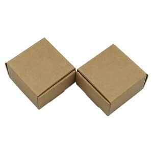 Brown Kraft Paper Boxes Wedding Party Favor Gift Candy Jewelry Packaging Boxes