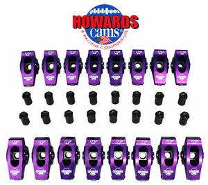 Howard s Chevy Bbc Billet Aluminum Roller Rocker Arms 1 8 Ratio 7 16 Stud
