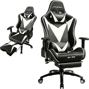 Gtracing Chair Executive Gaming Chair Recliner Napping Office Desk With Footrest