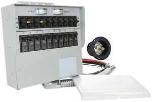Reliance Controls 30 Amp 10 circuit Manual Transfer Switch