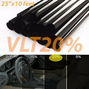 Uncut Window Tint Roll 20 Vlt 25 In 10ft Feet Home Commercial Office Auto Film
