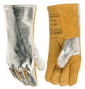 Reflect Radiant Heat Leather Welding Glove Split Cow Leather Tig Mig Work Glove