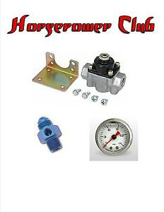Quick Fuel 30 803 Holley Fuel Pressure Regulator Gauge Adapter Liquid Filled Blu