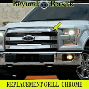 2015 2016 2017 Ford F150 F 150 Triple Chrome Grille Grill Oe King Ranch Style