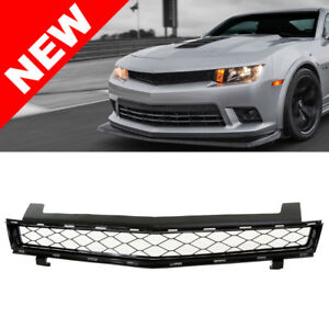 Black Z28 Style Badgeless Honeycomb Grille For 2014 2015 Chevy Camaro