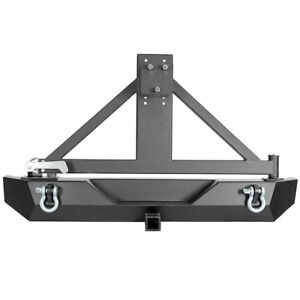 Rear Bumper W tire Carrier d ring hitch Receiver For 2007 2018 Jeep Wrangler Jk