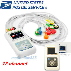 24 Hour Real Time Store Ecg Data 12 Lead Ekg Holter recorder analyzer Software