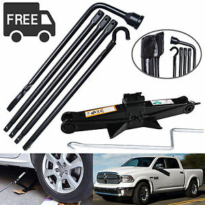 Portable Tools Kit Scissor Jack Spare Tire Lug Wrench For 02 15 Dodge Ram 1500