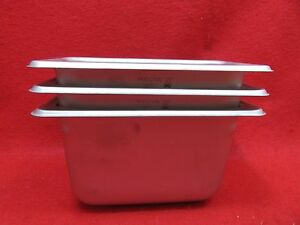 3 Steam Table Pans Stainless Steel Pn 2220949 4 Deep New