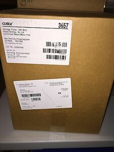 New Corning 384 well Storage Plates Clear Nonsterile cs100 cat 3657