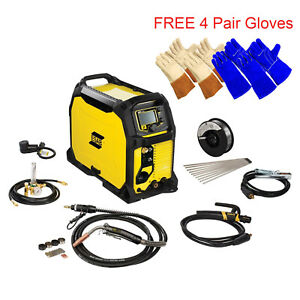 Esab Rebel Emp 235ic Mig stick tig Welding Machine 0558012702 4 Pr Free Gloves