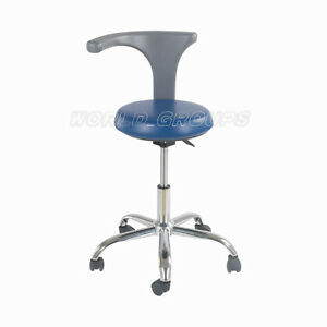 Mobile Chair Seat For Dentist Nurse Doctor Pu Leather 201a Blue Wg