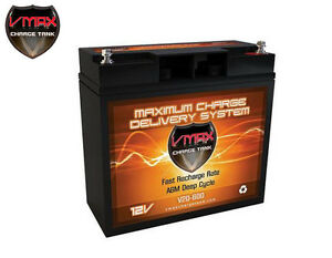 Vmax V20 600 Agm Deep Cycle 12v 20ah Battery For Synthesis Renogy Pv Solar Panel
