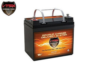 Vmax V35 857 Agm Deep Cycle 12v 35ah Battery For Synthesis Renogy Pv Solar Panel