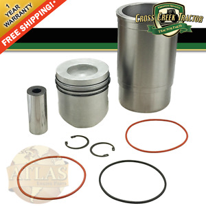 Ar78041 New Piston And Sleeve Set For John Deere 1530 2040 301a 302 302a 310