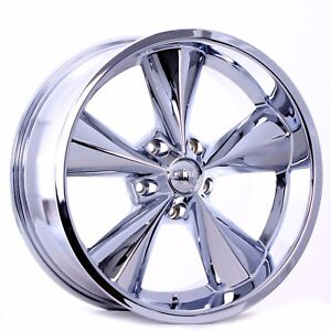 Boyd Coddington Junkyard Dog Wheels Chrome 18x7 18x8 Suit Older Fords Mustang