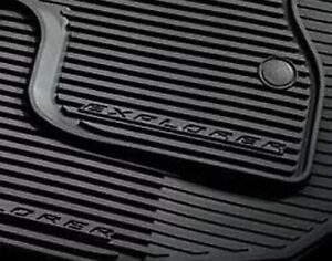 2011 2014 Ford Explorer All Weather Floor Mats Black Rubber Set Oem New