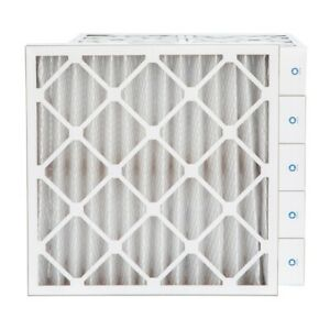 24x24x4 Merv 8 Pleated Ac Furnace Air Filters 6 Pack actual Depth 3 3 4