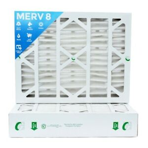 20x25x4 Merv 8 Pleated Ac Furnace Air Filters 6 Pack actual Depth 3 3 4