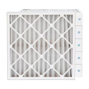 20x20x4 Merv 8 Pleated Ac Furnace Air Filters 6 Pack actual Depth 3 3 4
