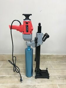 Core Drill Machine With Stand Core Bit 110 V Handheld Free Core Bit 4 1 4