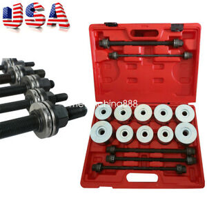 27pc Press Pull Sleeve Kit Bush Bearing Removal Insertion Tool Set With Case