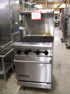 Commercial 4 Burner W Convection Oven