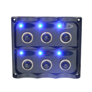 Waterproof 12 24v Switch Panel 6gang Splashproof Toggle Led Back Indicator Light