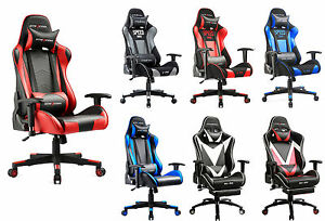 Gtracing Chair Excutive Gaming Chair Pu Leather Recliner High Back Office Chair