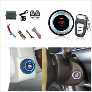Car Suv Alarm Security System Audible Alarm Ignition Engine Start Push Button