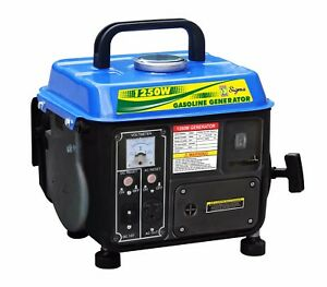 New 1250 Watts Portable Gasoline Generator Power 2 Stroke Rv Camping Epa carb