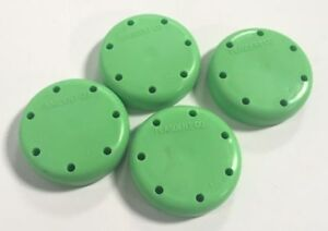 4x Plasdent Neon Green Round Magnetic Dental Bur Block Holder Plastic 7 Holes