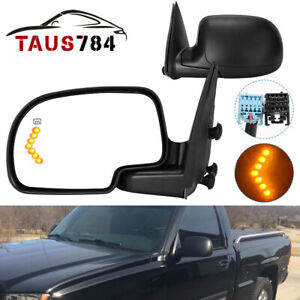 Side View Mirror Passenger Right For 03 06 Silverado Sierra Power Heated Signal