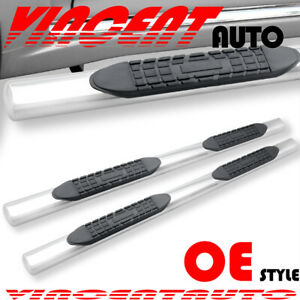 Fit 02 08 Dodge Ram 1500 Quad Cab Side Step Running Board Nerf Bar 4 S S Oval