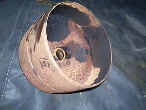 Vintage Ji Case Sc Tractor 9 Diameter Tin Belt Pulley 1941