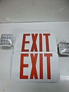 New Fulham Firehorse Exit Light Lighting Led Exit Sign Combo Fhec33wr