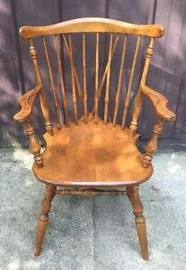 Vintage Ethan Allen Windsor Captain Dining Chair Nutmeg Maple Local Pickup Only