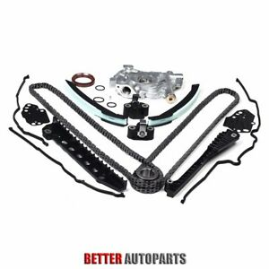 Timing Chain Oil Pump Kit Cover Gaskets 04 08 For Ford F150 Lincoln 5 4l 3v