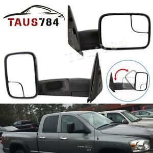 Manual Tow Side Mirrors For 02 08 Dodge Ram 1500 03 09 Ram 2500 3500 Left right