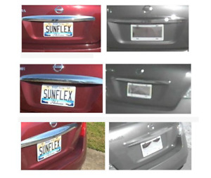Clear License Plate Tag Frame Cover Shield F Car Truck Super Protector Usa