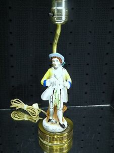 Small Porcelain Figural Lamp