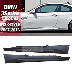 M3 Style Side Skirts Body Parts For Bmw 07 13 3 Series E92 Coupe E93 Convertible