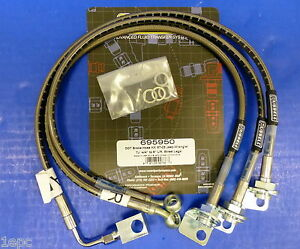Russell 695950 Stainless Steel Brake Hose Kit Jeep Wrangler Tj 1997 06 4 To 6