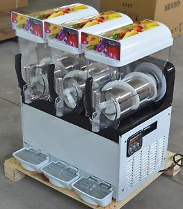 3 Tank Snow Frozen Drink Slush Making Machine Commercial Smoothie Ice Maker