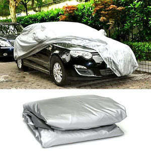 L Xl Size Universal Uv Waterproof Outdoor Full Car Auto Cover Silver Practical