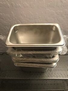 Volrath 20949 S s 1 9 Size X 4 D Steam Table food Pan Lot Of 6 Stainless Steel