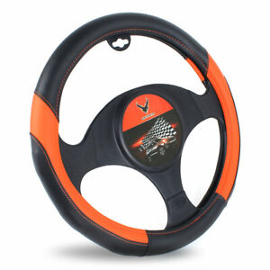 15 Inches Car Universal Steering Wheel Cover Pu Leather Fit Vehicle Protection M