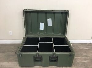 Us Military Hardigg Shipping Container Compartmentalized Case 472 3018