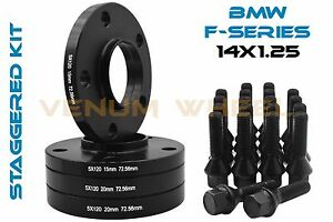 15mm 20mm Bmw Wheel Spacers Black Hubcentric F Series F30 F32 F33 F80 F10 M3 M4