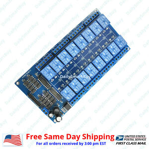 16 Channel 12v Relay Shield Module Board For Arduino Raspberry Pi Arm Avr Cn
